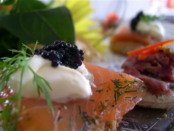 Beautifully prepared cuisine on board Magna Carta