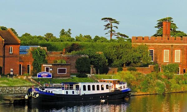 Magna Carta moored in Hampton Court