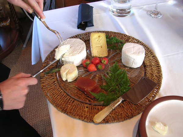 Delicious cheeses from the area are available for you to enjoy after every meal