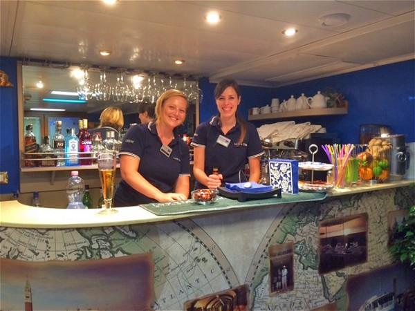 The bar aboard La Bella Vita